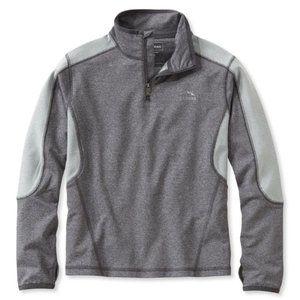 L.L. Bean Boys' Pacer Quarter-Zip Pullover Gray M